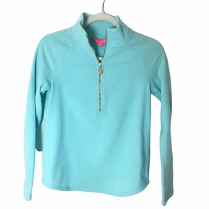 Lilly Pulitzer Bayside Blue 1/2 Zip Popover